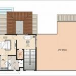 Type-2-West Facing-Second Floor Plan