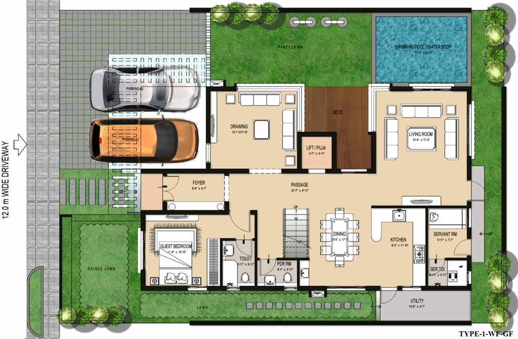 Villa istanafloor plans villa istana for 2 bedroom ground floor plan